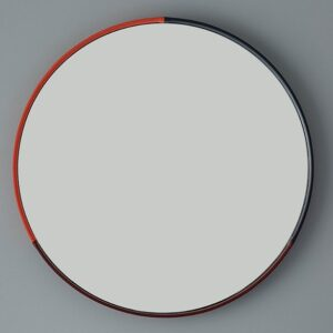 Three-color-Round-Mirror-Red