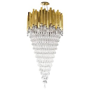 Trump chandelier light crystal - Gold