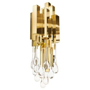 Trump wall lamp - crystal - gold
