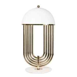 Turner table lamp brass - White