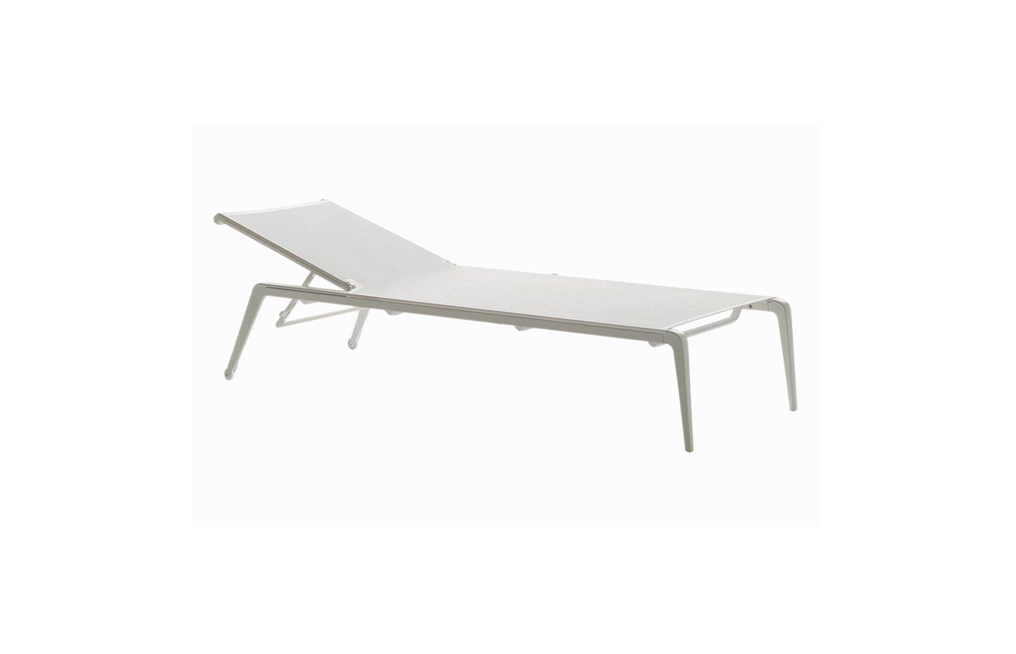 USHUAIA Sunlounger – Aluminium-white