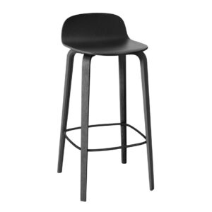 Visu bar stool - high - black