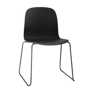 Visu sled base chair - black