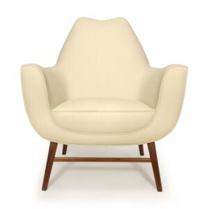 Western armchair lounge front - ivory