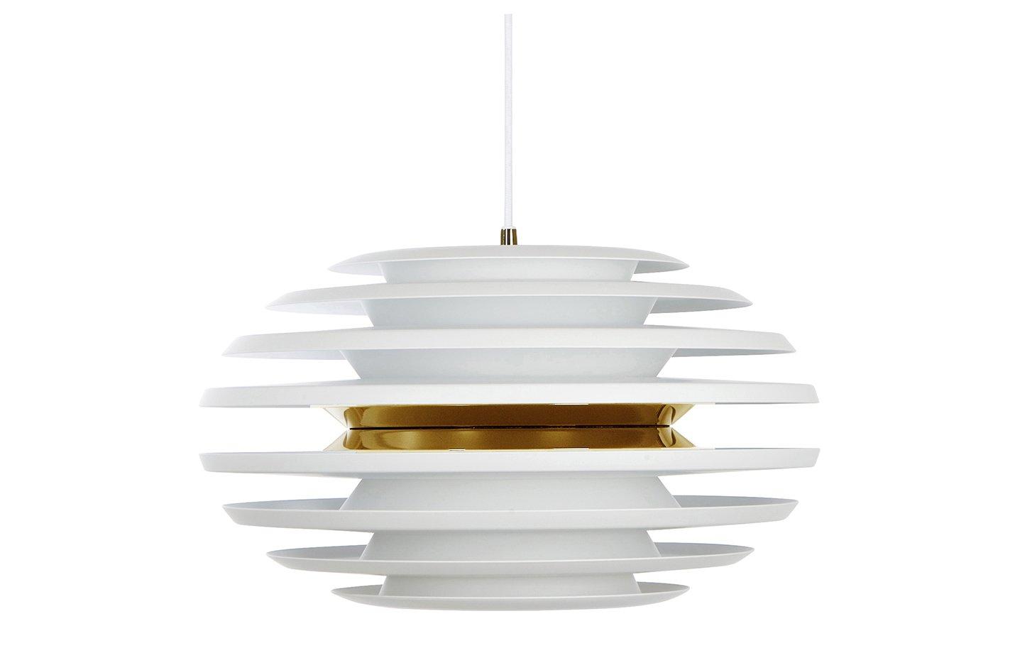 Ellipse pendel pendant light – White – gold