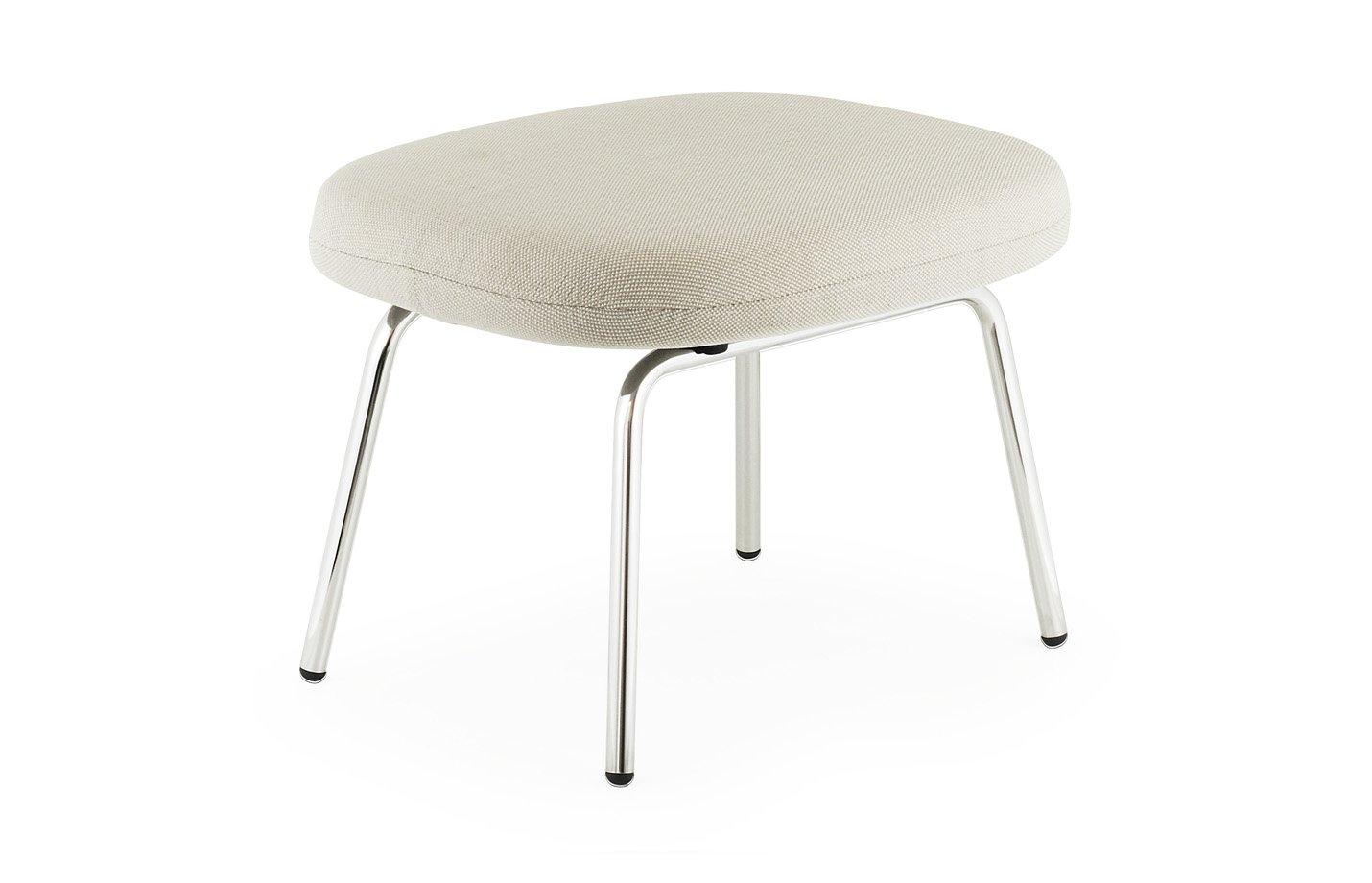 Era footstool – steel – beige