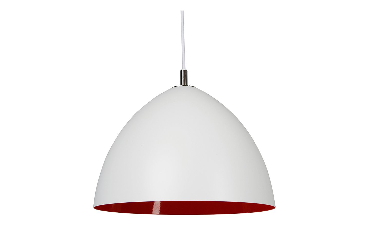 Lizzie pendant lamp – white – red