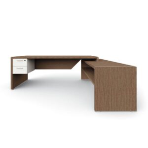 pollux executive desk - tobacco-oak