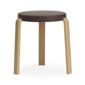 Tap footstool - aubergine