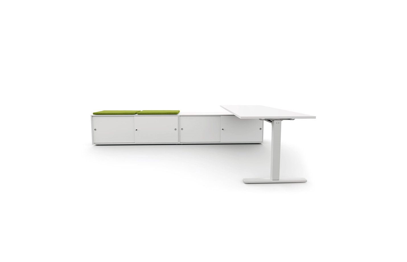 vega workstation table – white