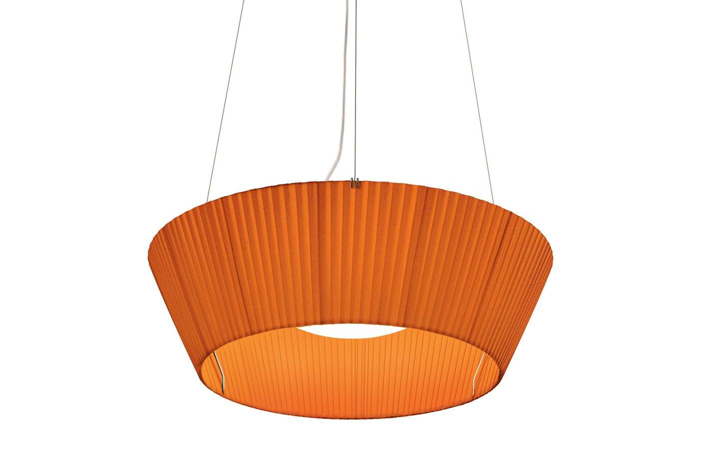Reverse Upwards Pendant Light – Orange