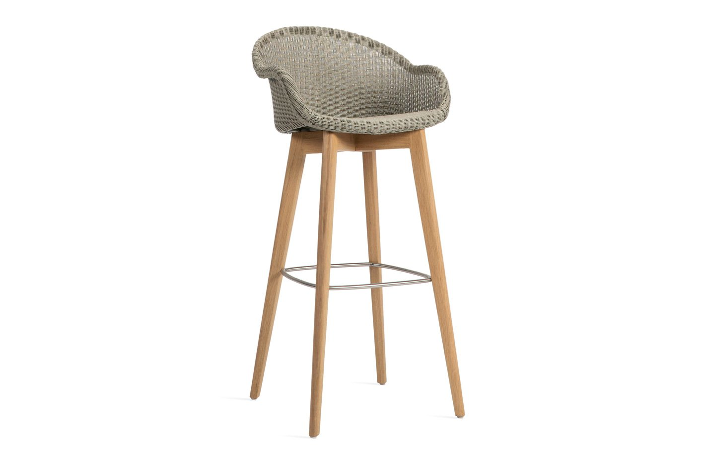 Avril Bar Stool Wood Base - Natural by Vincent Sheppard Sparkle