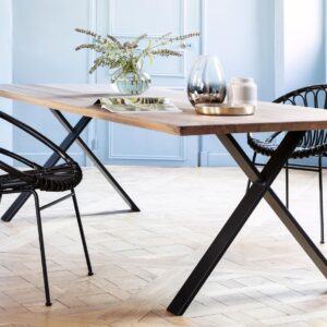 Cruz-Kiki-dining-chair-Rattan-with-metal-base-LS02