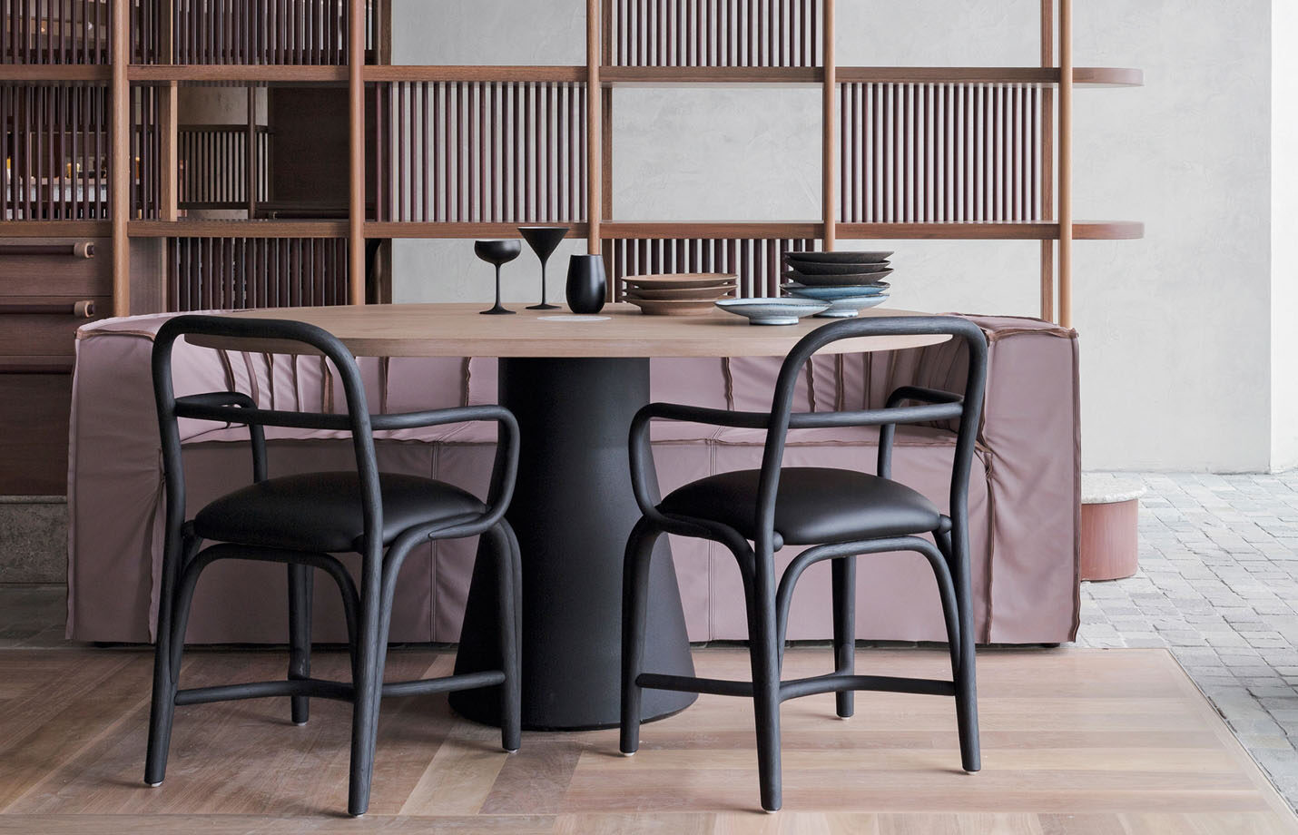 Fontal-Rattan-dining-armchair-with--seat-upholstery-black-LS01