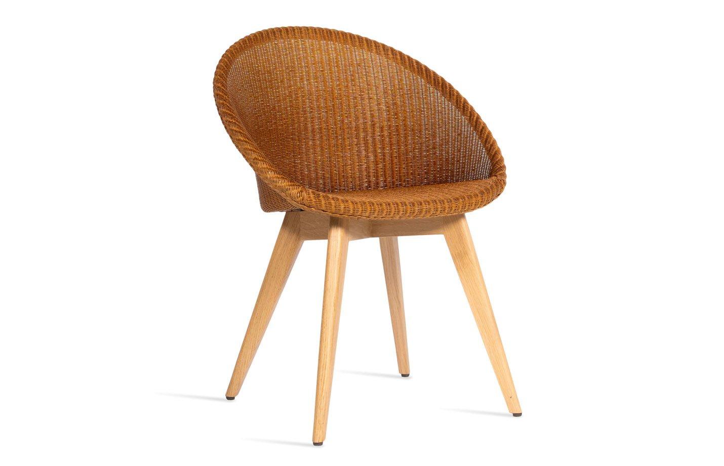 Joe Dining Chair Wood Base - Natural by Vincent Sheppard Aqua