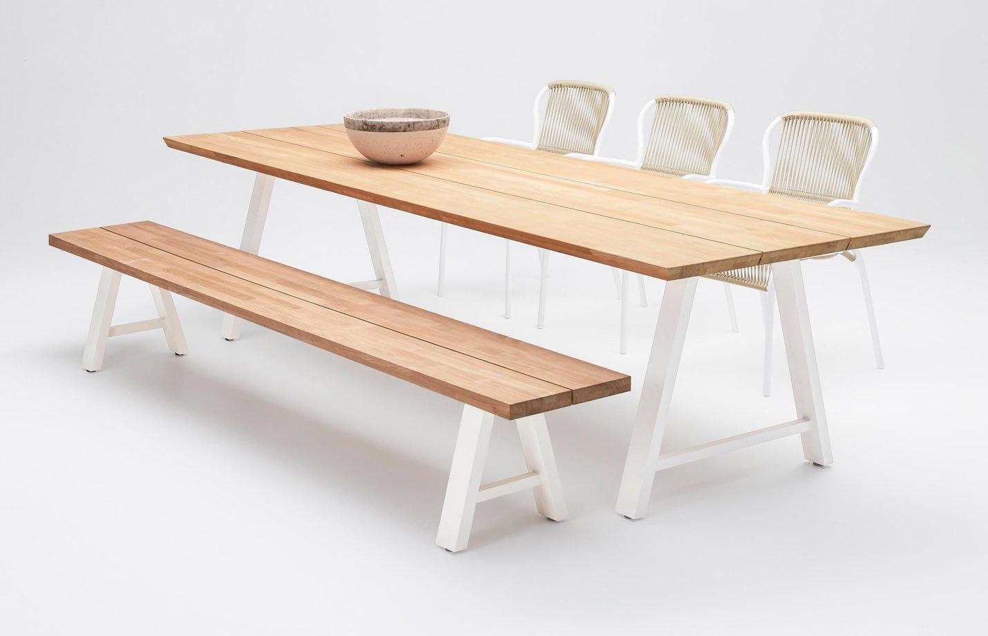 Matteo Rectangular Dining Table Teak Top by Vincent ...