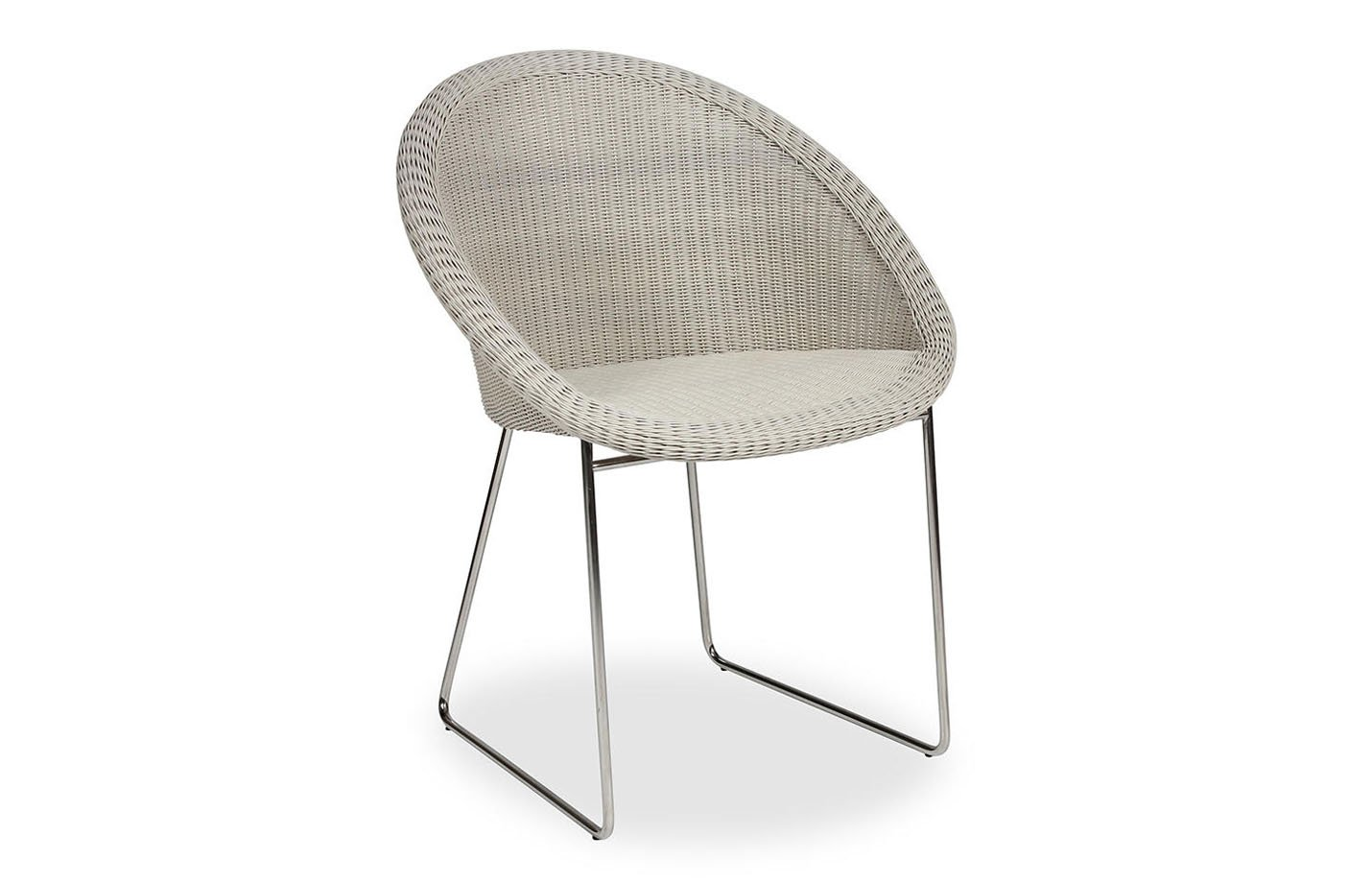 Gipsy Dining Chair Stainless Steel Sled Base by Vincent Sheppard Old lace
