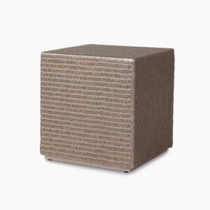 Cube-ottoman-side table