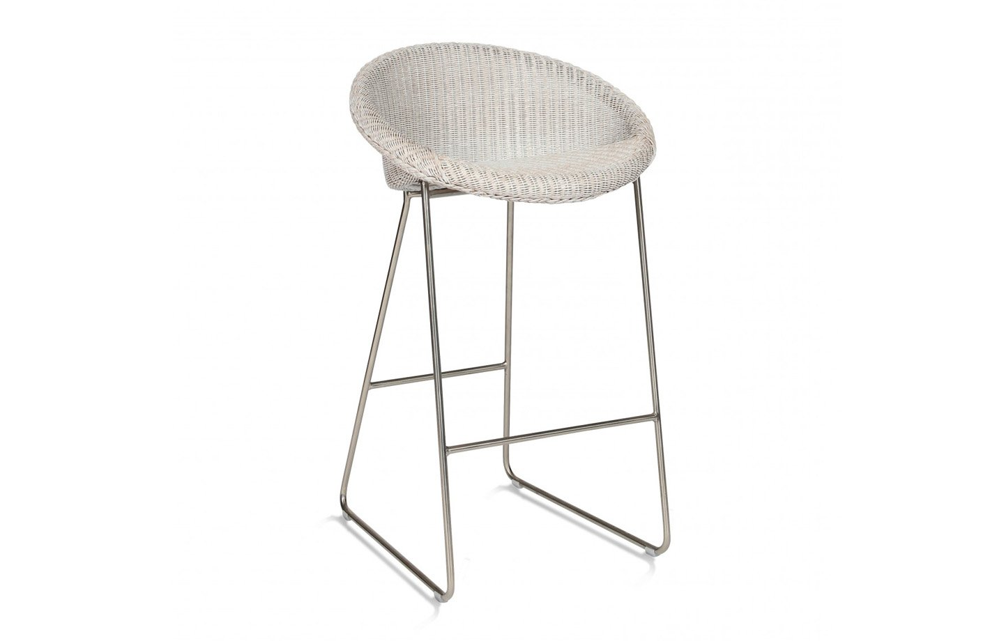 Joe Counter Stool Sled Base - Brushed Nickel by Vincent Sheppard Copper