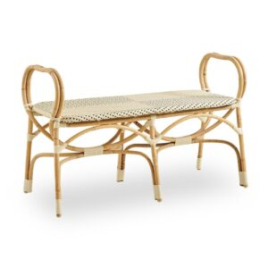 bistro-bench-ivory-with-black-dot