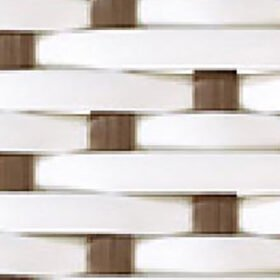 White w/ Cappuchino Dot
