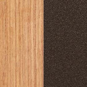 Natural teak + Metal Textured matt Coffee Brown