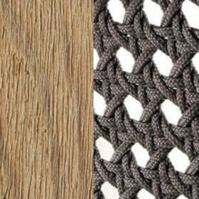 Pickled Teak + Round Rope Taupe